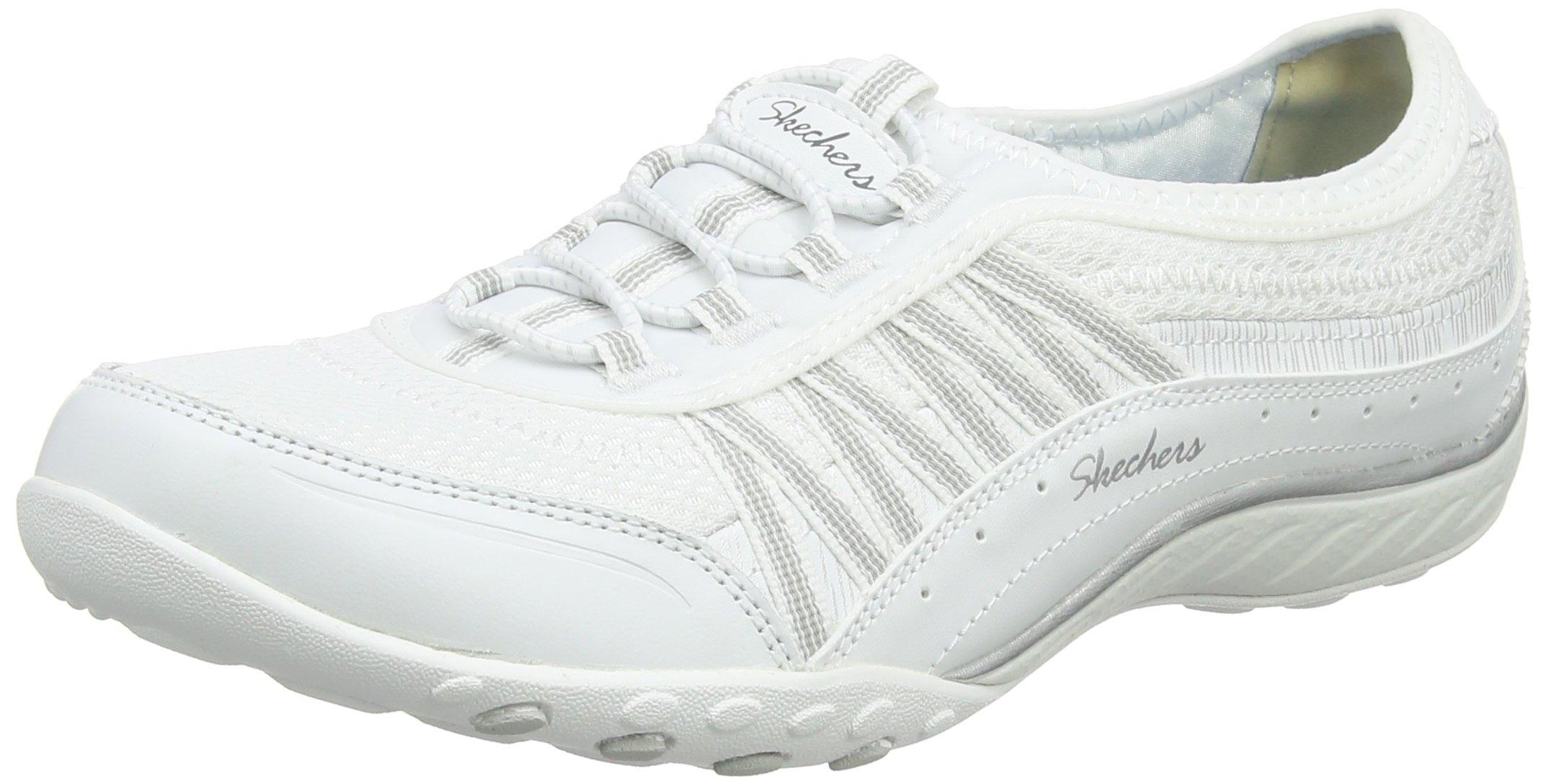 Skechers Women's 23041 Trainers, White (White/Silver), 3 UK 36 EU