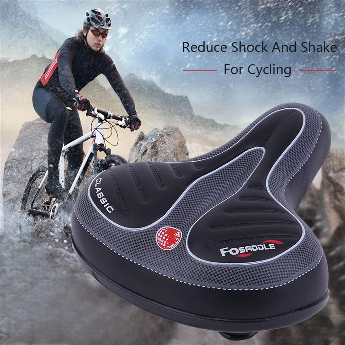 Bike Bicycle Saddle Seat Cover Comfort Sporty Soft Pad Wide Big Bum Gel US