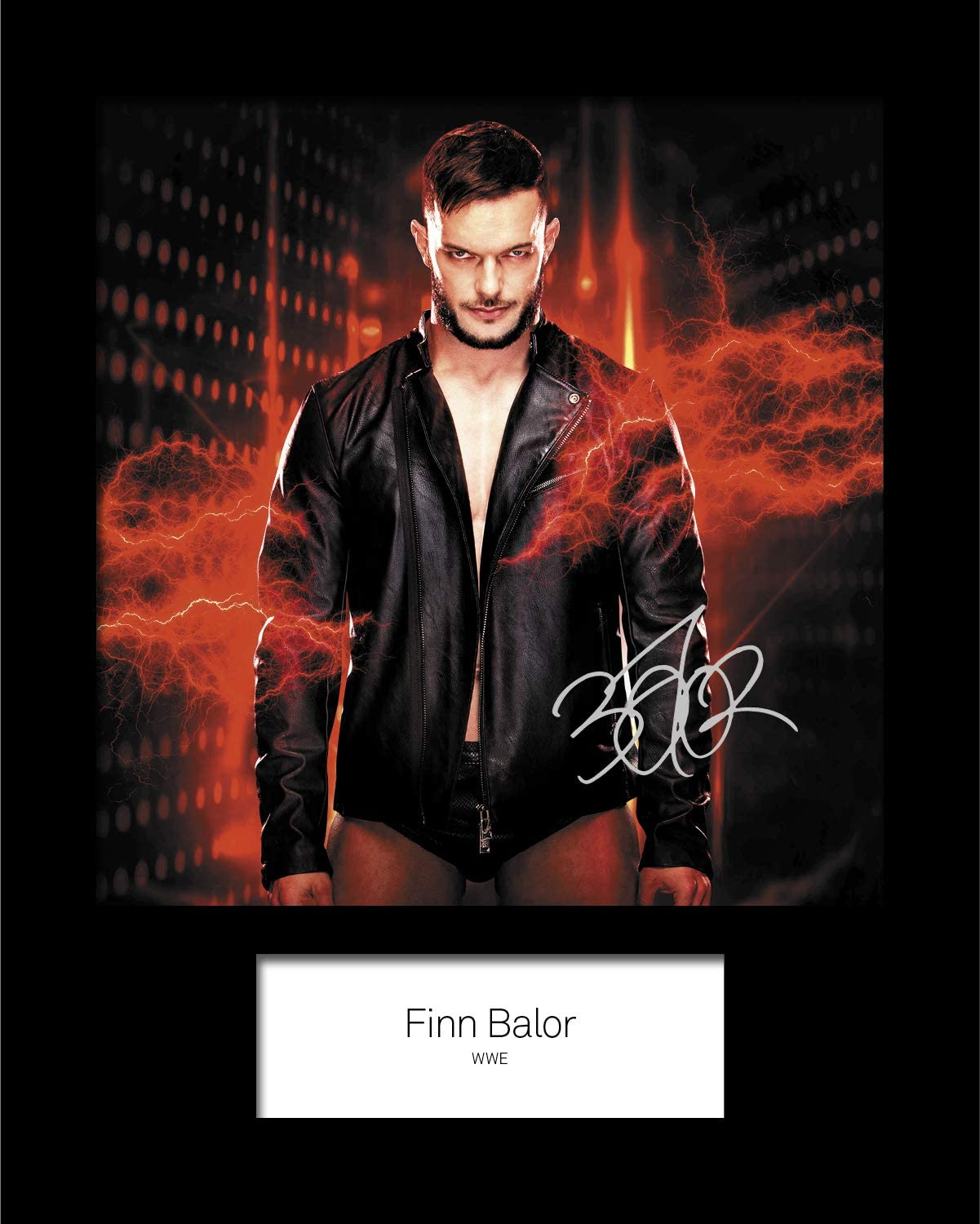 WWE Signed 10x8 Mounted Photo Print Reprint FINN BALOR #3 FREE DELIVERY