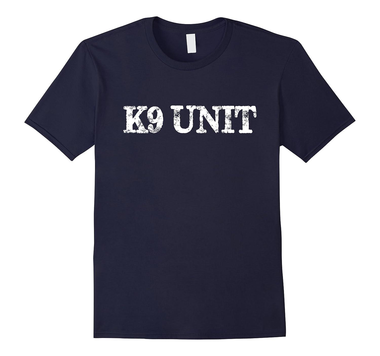 K9 Unit T-Shirt Distressed Law Enforcement Shirt-TD