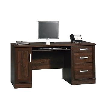 Sauder 408291 Office Port Credenza, Dark Alder