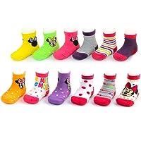 Disney baby-girls Disney Mickey & Minnie Mouse Assorted Color Pair Socks Set Socks