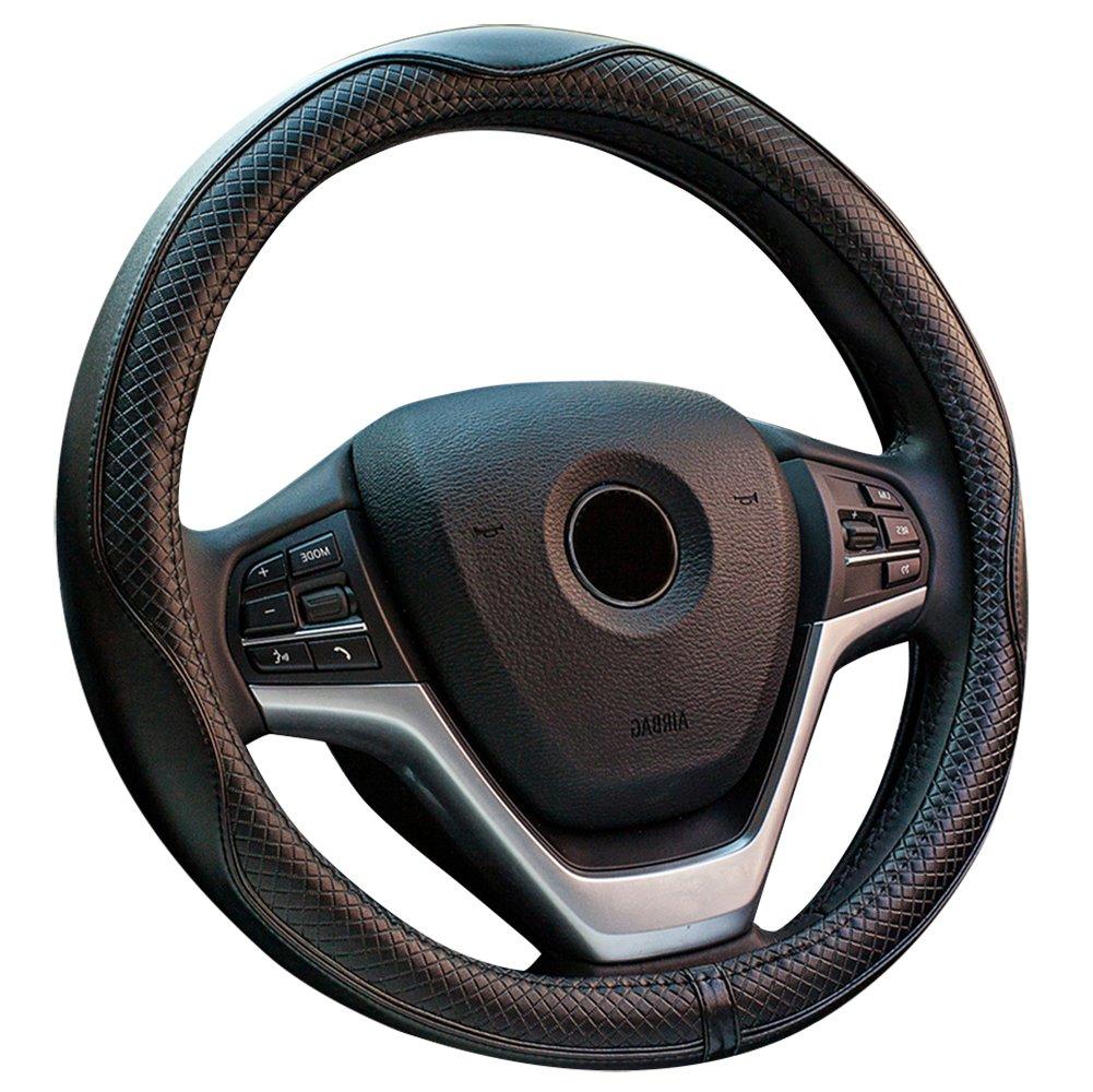 Eclear universale da 38/cm antiscivolo protettore per auto coprivolante in pelle