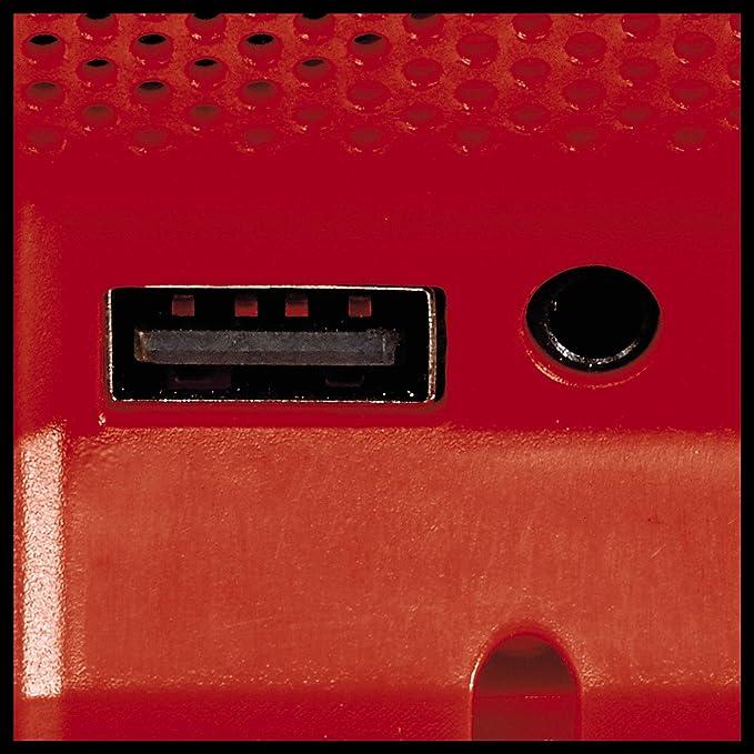 Einhell Akku Lautsprecher Tc Sr 18 Li Bt Power X Change Li Ion 18v 10 M Bluetooth Reichweite Max 85 Db Bluetooth Version 5 0 Aux Anschluss Usb Anschluss Ohne Akku Und Ladegerät Baumarkt