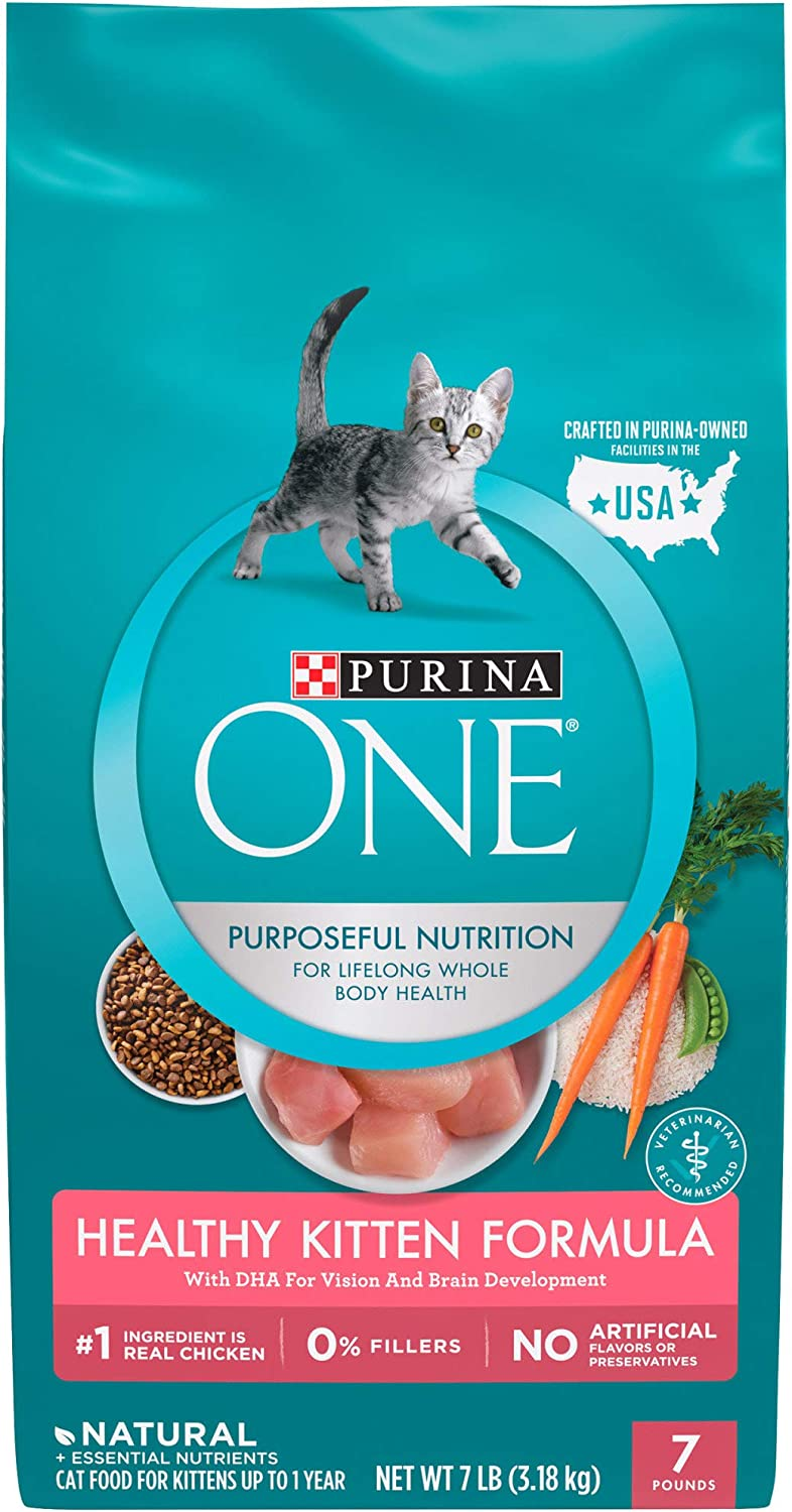 Purina ONE Natural Healthy Kitten Dry Food, 7 lbs.