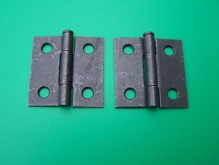 """Small Pair Vintage Steel  Door Cabinet Door Hinges 1/""""x1 1//4/"""""""