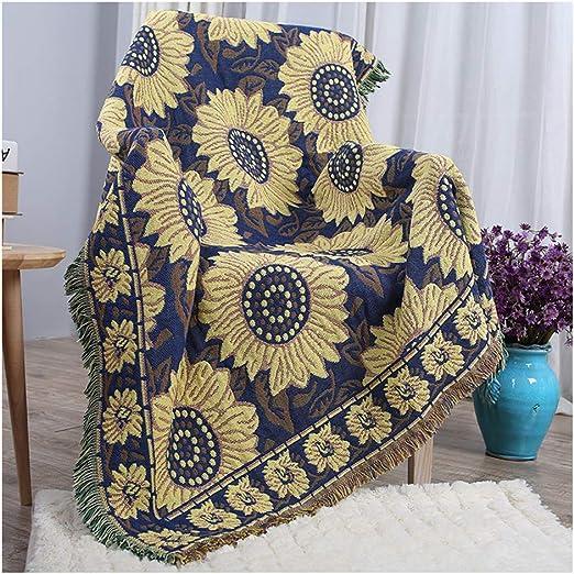 QVIVI Mantas de algodón para sofá o sillón, multifuncionales ...