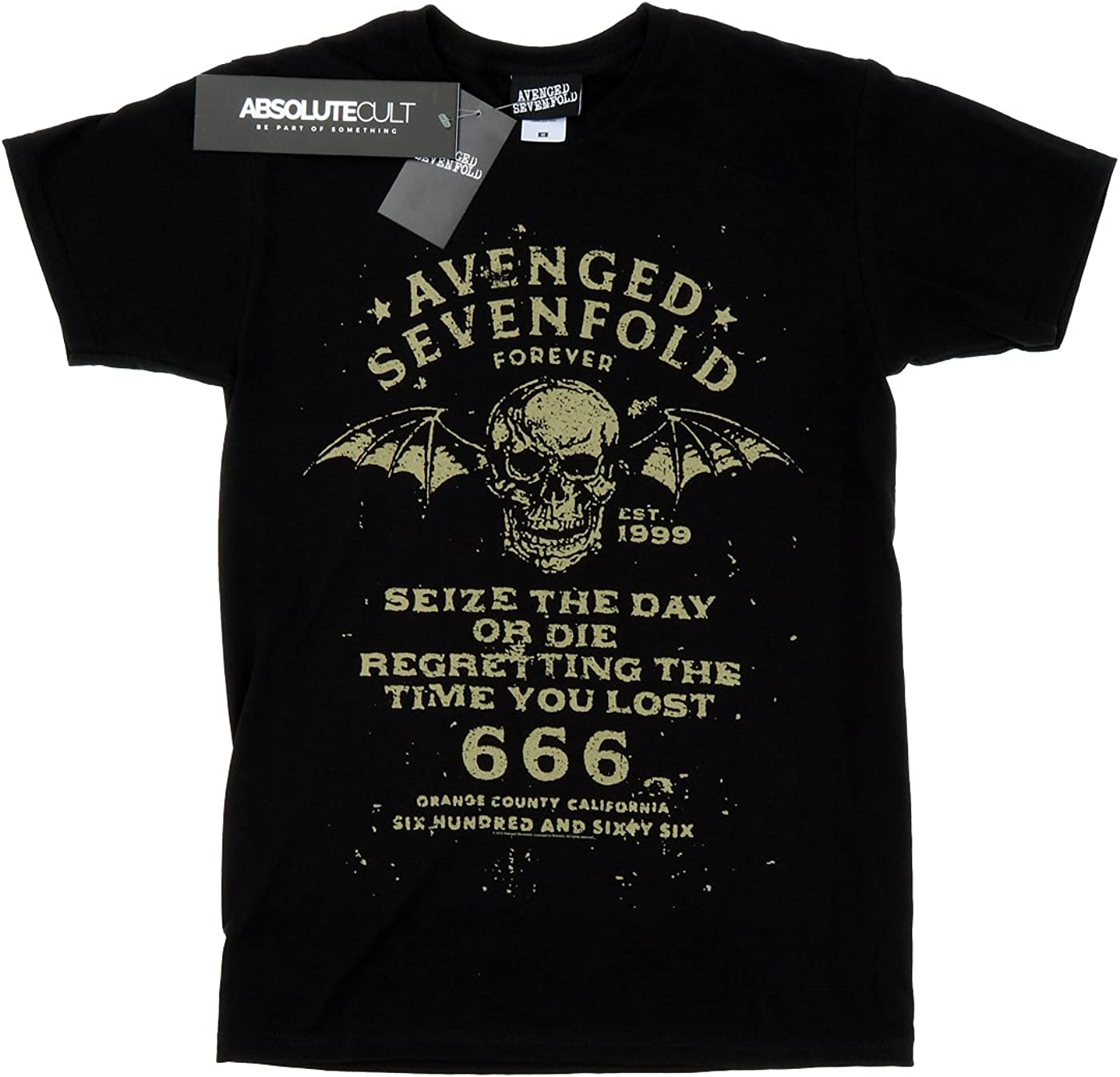 Schwarz Avenged Sevenfold Seize The Day T Shirt