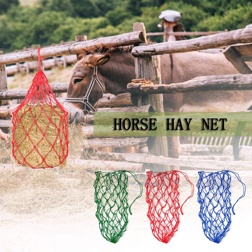Horse Forage Bag Donkey Feeding Bag Slow Feeder Hay Net Equestrian Feeding Supply Walmeck
