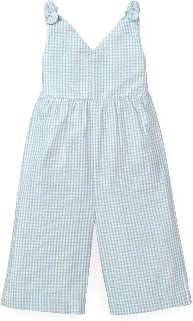 1940s Children's Clothing: Girls, Boys, Baby, Toddler Hope & Henry Girls Wide Leg Sleeveless Jumpsuit with Bow Shoulders $26.95 AT vintagedancer.com