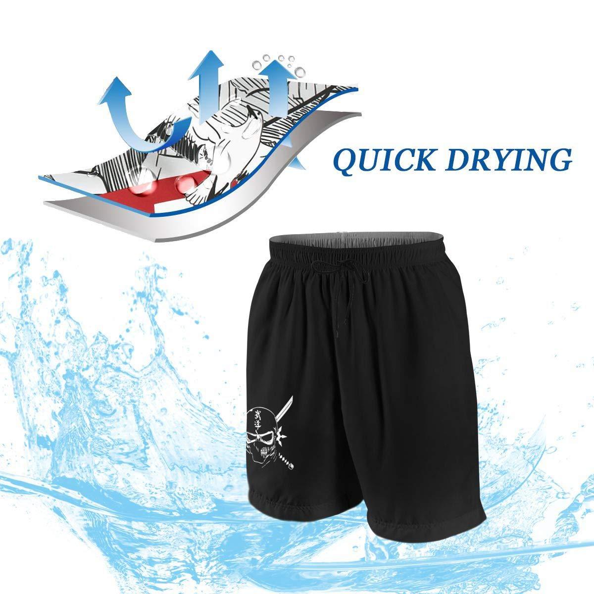 Ninja Warrior Boys Womens Summer Casual Beach Shorts,Funny Shorts Quick Dry Short