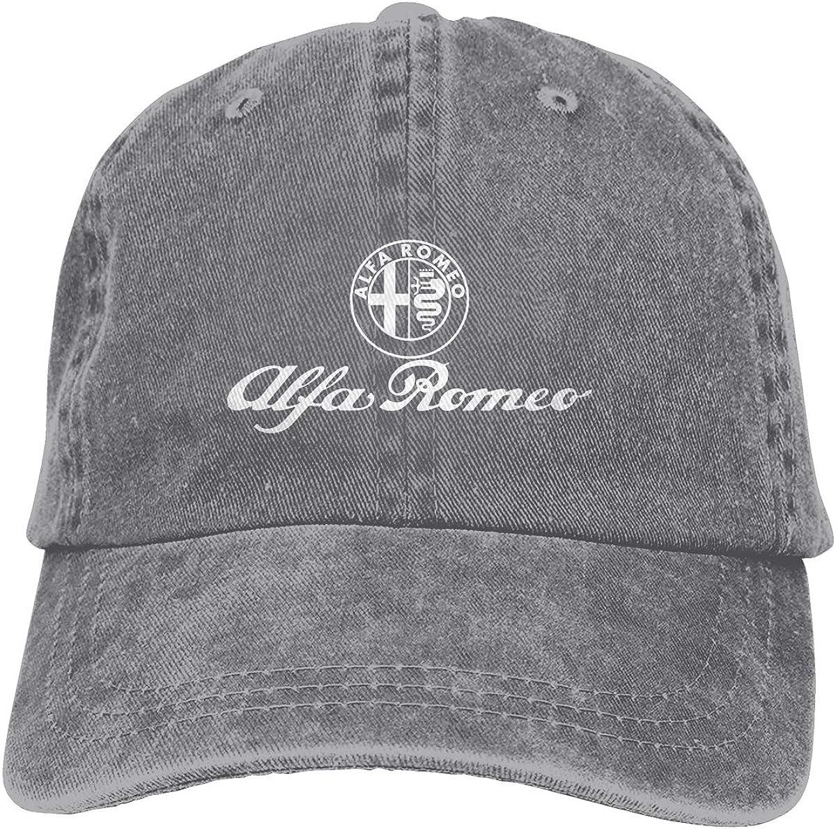 Runxindianzi Customized Aufkleber Alfa Romeo Funny Hat Cap for Men Black