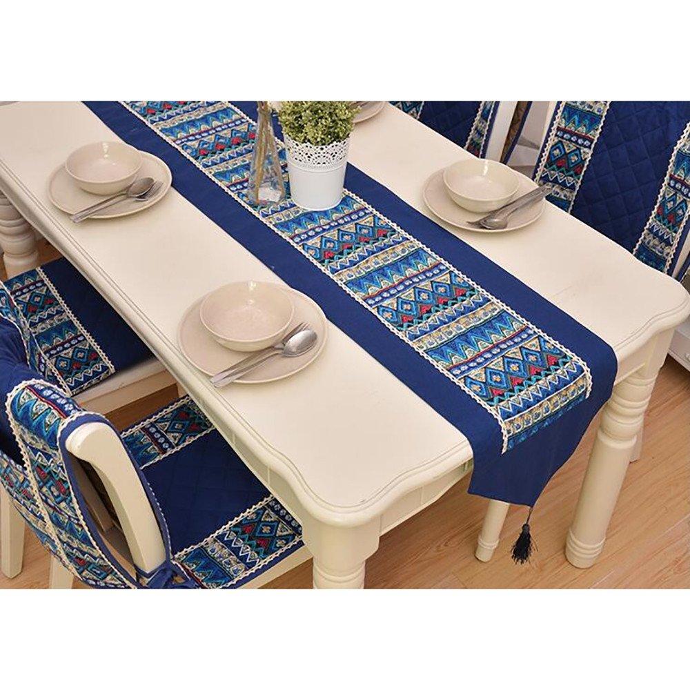 GJ-Escritorio / cama / Bandera / moda / tela embellecedor / mosaico Home Furnishing / mantel,32*180cm,B,Regalos de Navidad: Amazon.es: Hogar