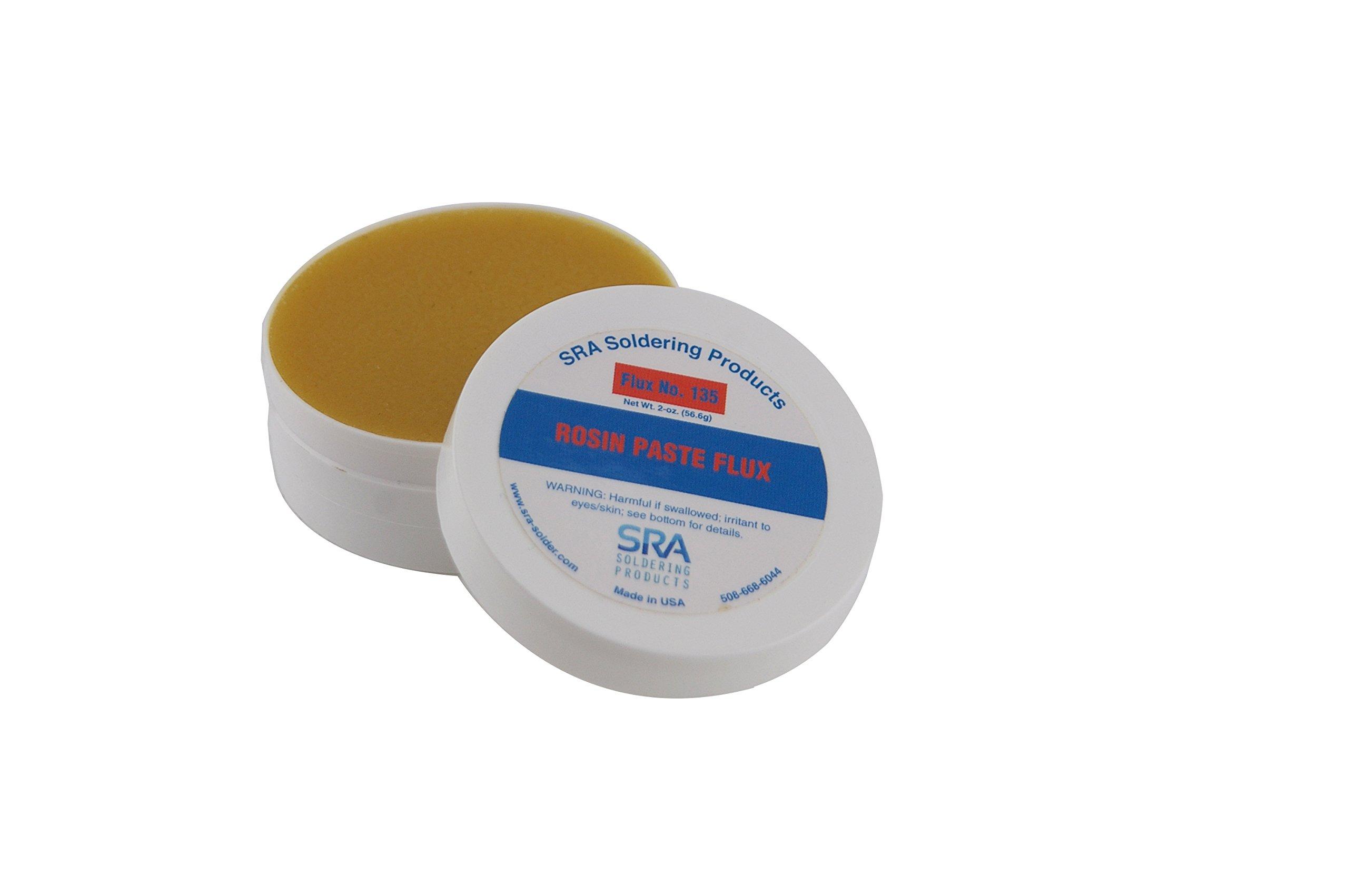 SRA Rosin Paste Flux #135 in a 2 oz Jar