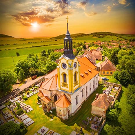 Christmas In Europe Wallpaper.Leyiyi 7x7ft Church Of St John The Baptist Backdrop Merry Christmas Baptism Central Europe Small Village Religious Monument Photography Background