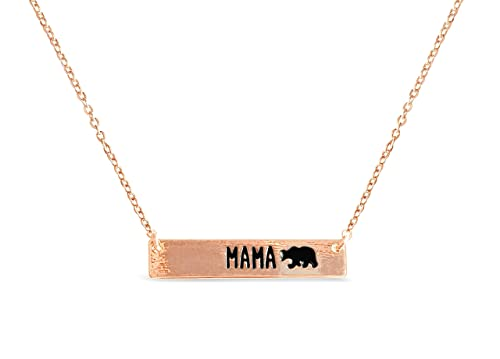 Rosa Vila Bar Mama Bear Necklace Expectant Mom Jewelry Meaningful Birthday For Mothers Day Present Women 17 Chain