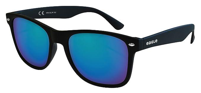 Eagle Wave Gafas de sol, Wayfarer, 52, Negra
