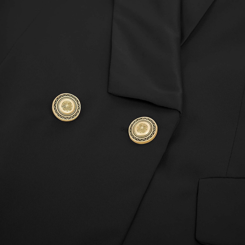 CURLBIUTY Women Formal Notch Lapel Button Lined Work Office Blazer Jacket Suit