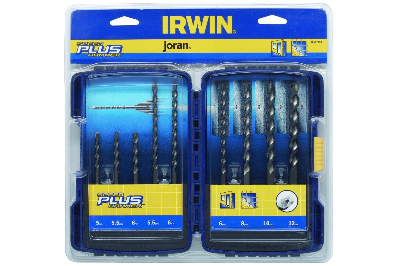 Irwin 10507111 Coffret de 9 forets /à b/éton sds speedhammer plus Bleu Marine