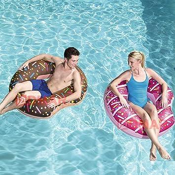 Zinniaya Donut Inflable Anillo de natación Piscina Gigante ...