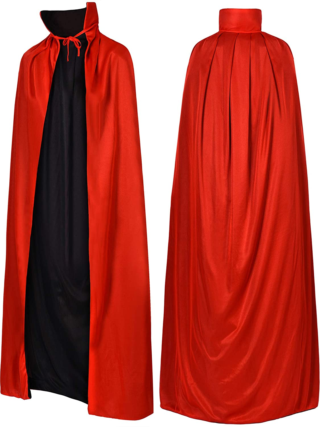 Tatuo Unisex Vampire Cloak Vampire Cape Reversible Cape for Halloween Themed Party Adult Cloak Supplies, 55 Inches Length
