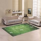 D Story Floor Decor Grunge Football Field With Close Up Of Midfield And  White Chalk
