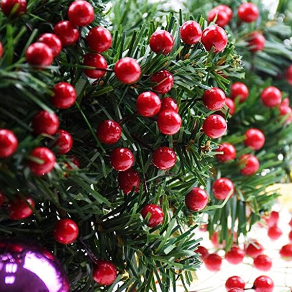 ifoyo red berries 10 pack artificial red berry stems for christmas tree decorations crafts - Red Berry Christmas Tree Decorations