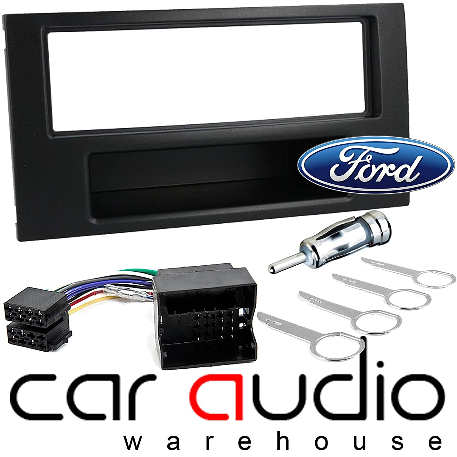 Ford C Max Connect Fiesta Focus Fusion Transit Car Stereo Radio Universal Wiring Facia Fascia Panel Harness Fitting Kit Electronics