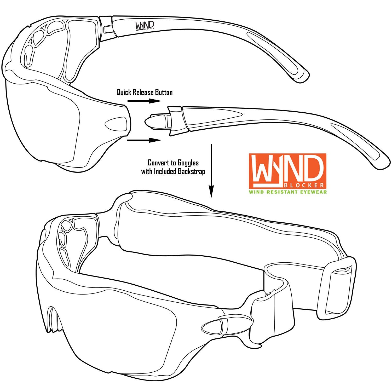 4308400c0fd Amazon.com  WYND Blocker Polarized Large Motorcycle Riding Sunglasses Sports  Wrap Glasses