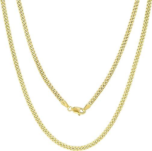 """GOLD AUTHENTIC 10K SOLID GOLD MEN/'S WOMEN CUBAN LINK CHAIN NECKLACE SZ 16/""""-36/"""""""