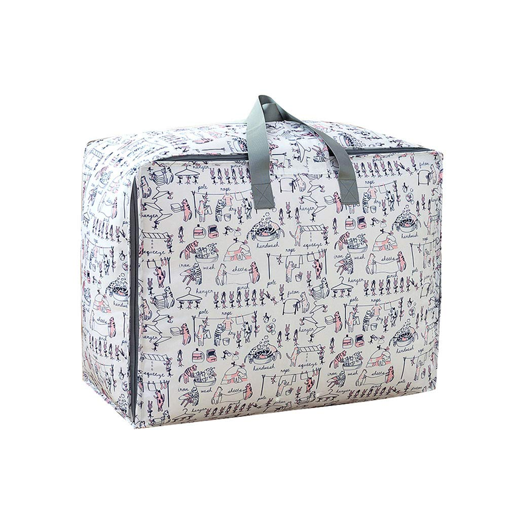 SHANDG Duvet Bags, 1 PC House Moving Bag Oversized Storage Bags Organizer Containers Jumbo Storage Bag Zippered Washable