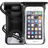 Auwet Wasserdichte Hülle Handyhülle, Wasserdichte Handyhülle Tasche Beutel für iPhone X/8/7/6s/6 Plus, Huawei, Samsung Galaxy S8/S7/S6, Note 8/7/6 für Schwimmen/Bootfahren/Tauchen/Angeln