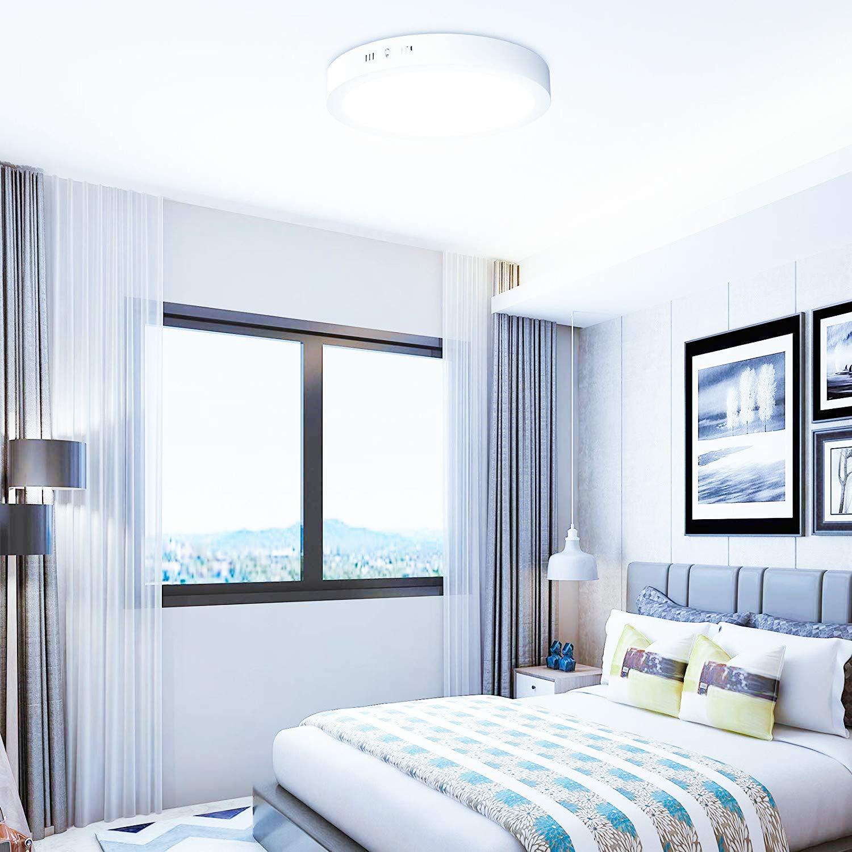 sala da pranzo Plafoniera LED da soffitto circolare superficie pannello LED illuminazione per soggiorno camera da letto ufficio ONSSI LED 20W Bianco neutro