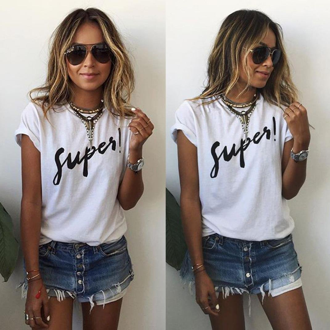LMMVP T-shirt sans manches en dentelle pour femme Style d/écontract/é M blanc