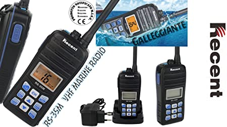 RECENT RS-35 M-RADIO PARA VHF NÁUTICA FLOTADOR: Amazon.es ...