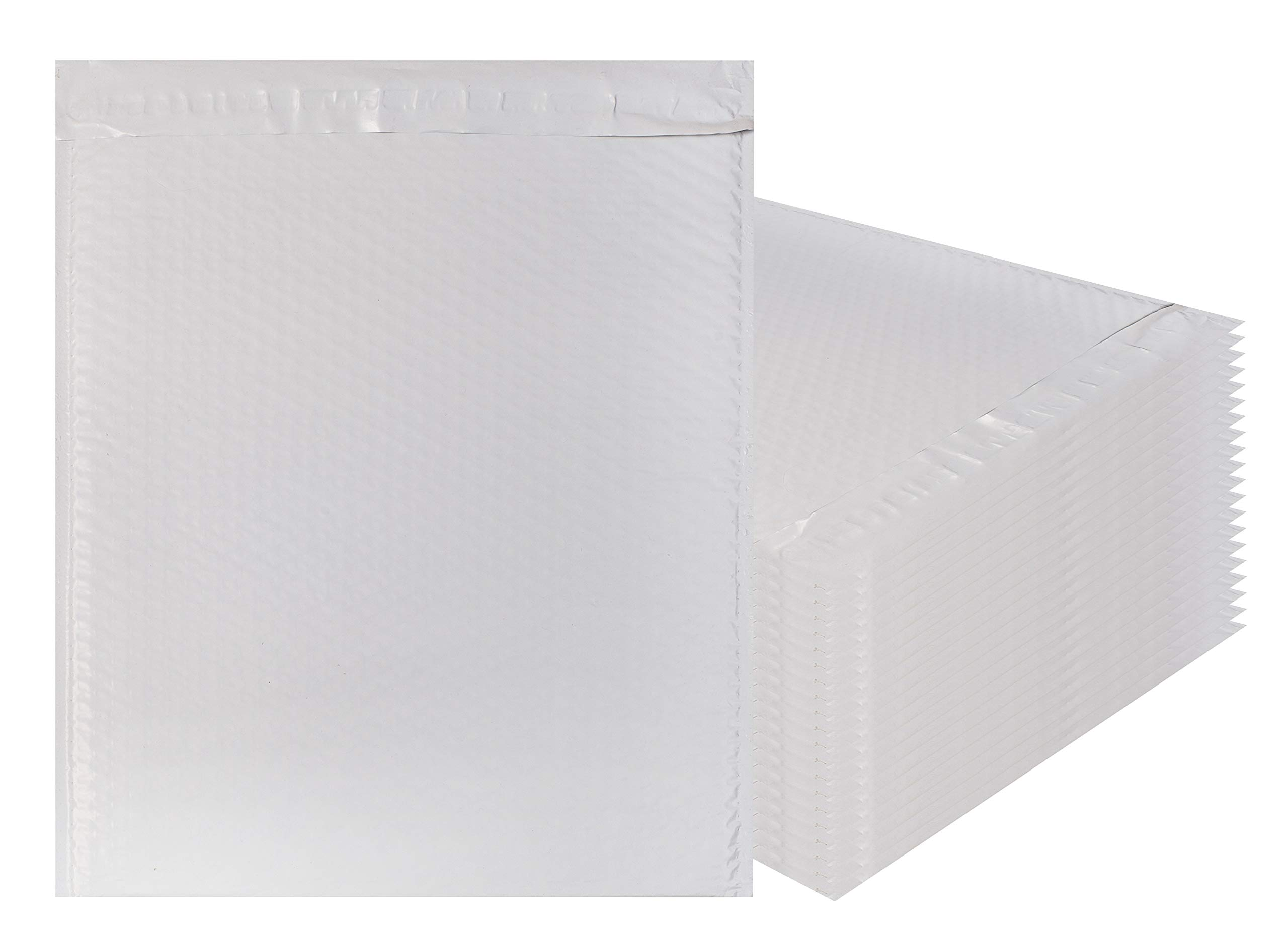 Amiff White Poly bubble mailers 14.75 x 19 Padded envelopes 14 3/4 x 19. Pack of 10 Large Poly cushion envelopes. Exterior size 15.5 x 19 (15 1/2 x 19). Peel and Seal. Mailing, shipping, packaging.