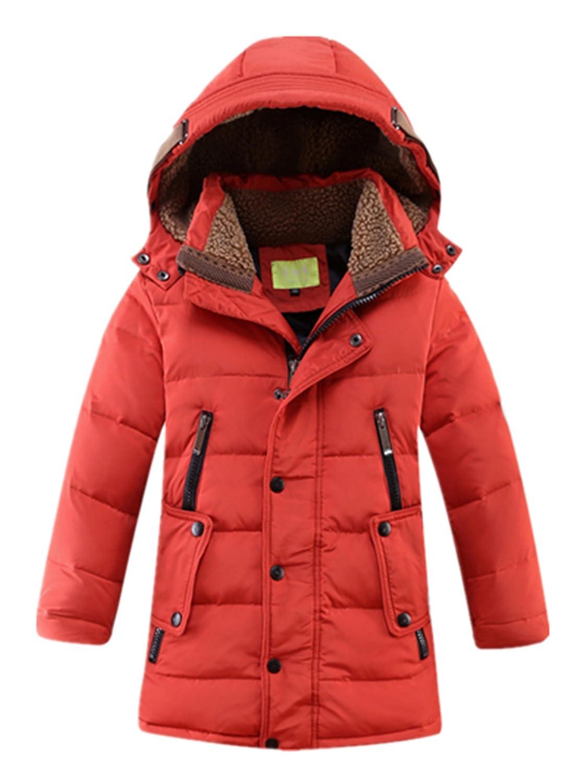 Crazycatz@School Boy Parka Down Coat Hooded Down Coat