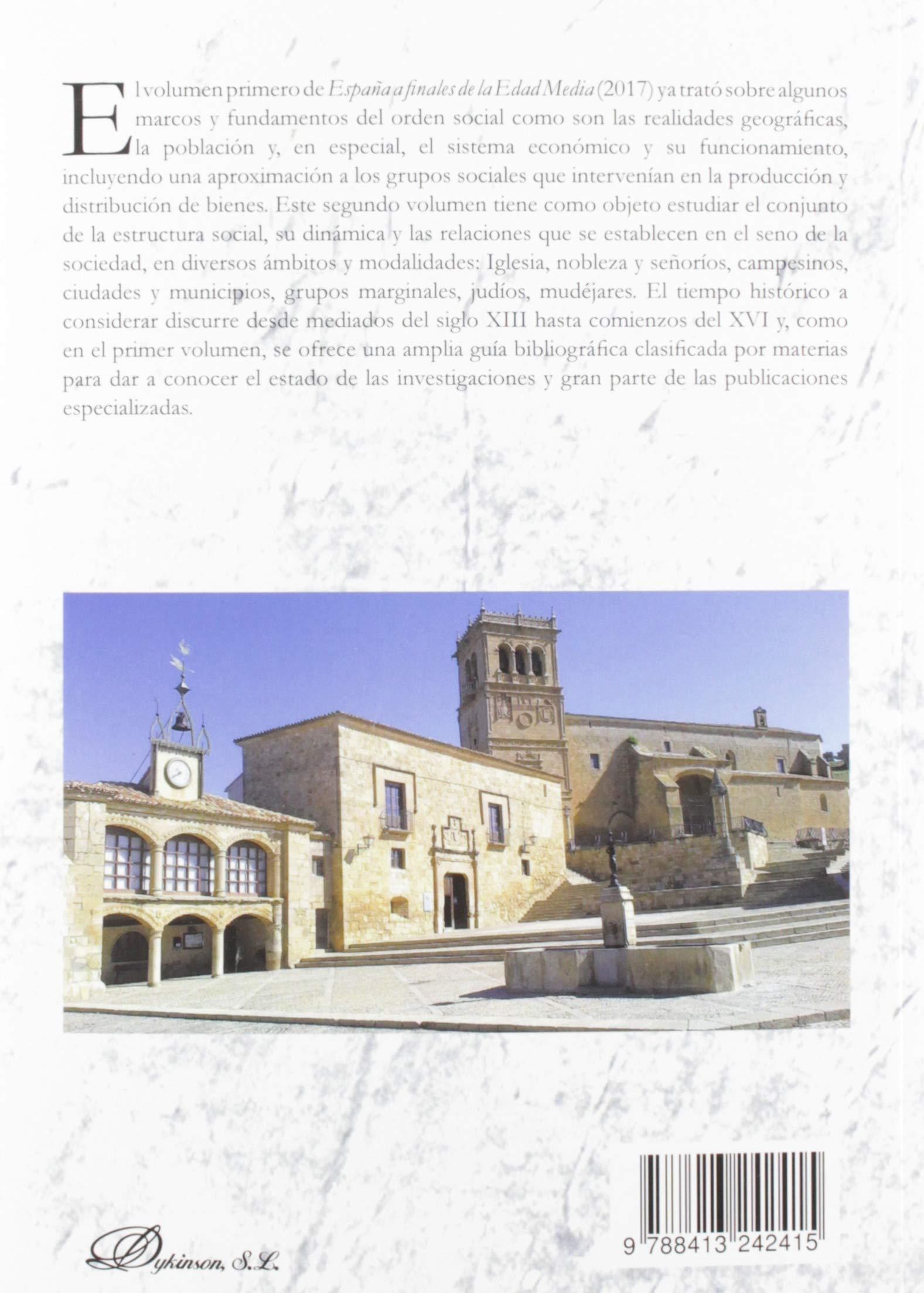 España a finales De La Edad Media. 2. Sociedad: Amazon.es: Ladero Quesada, Miguel Ángel: Libros