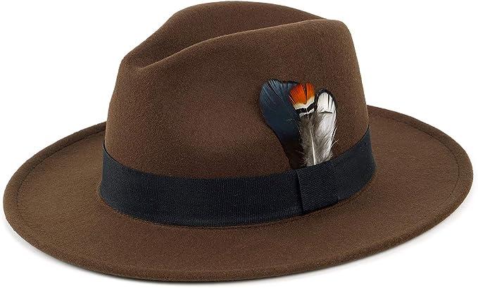 Unisex Fashion Panama Felt Hat With Black Buckle Band