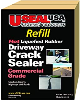Useal usa hot liqufied rubber driveway crack sealer refill useal usa hot liquefied rubberdriveway crack sealer refill kit 80 ft solutioingenieria Gallery