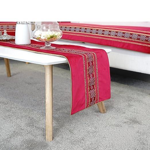 Sencillo y moderno cinabrio rojo camino de mesa camino de mesa ...