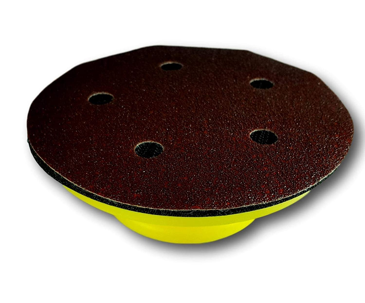 Round 5 Inch KIOLUX Uses Hook and Loop Sand Paper Pads Hand Sanding Block Ideal For Wood Furniture Restoration Home Arts and Crafts
