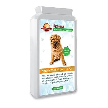 Preparado Multivitamínico Para Perros - 120 Comprimidos Masticables Con Sabor A Pollo | Estas Vitaminas Y