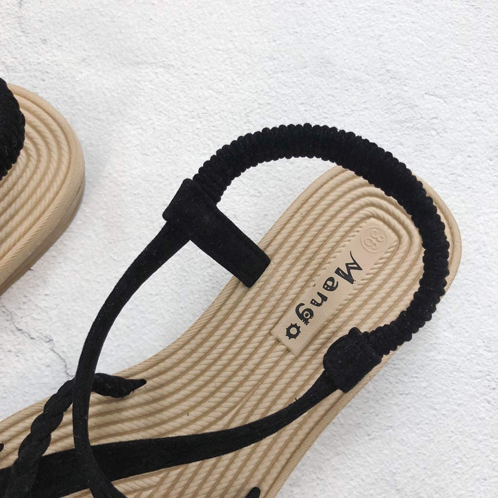 Femme sandales plates en similicuir poisson bouche tamaris talon compens/és chaussure cuir fleur marque ferm/é Mesdames /ét/é des pas cher neutres /à bout ouvert confort plat neutre avec des tongs de plage