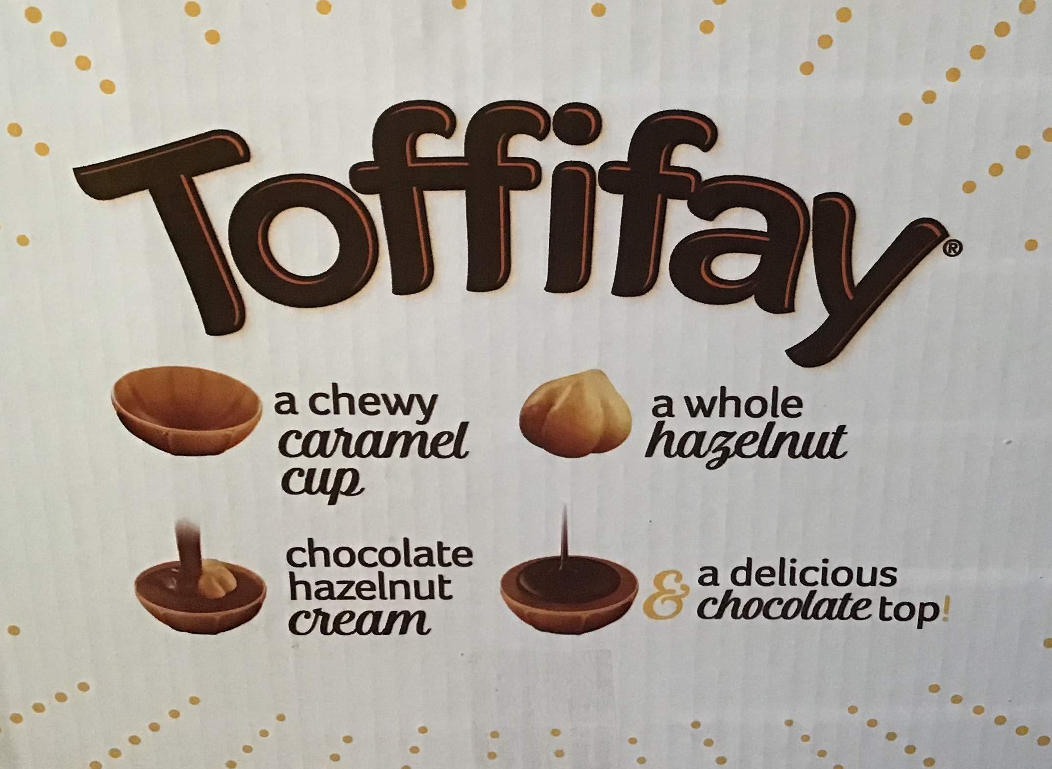 Toffifay Hazelnut Chewy Caramel , 21 Count (CHOC. CANDY - REGULAR SIZE)