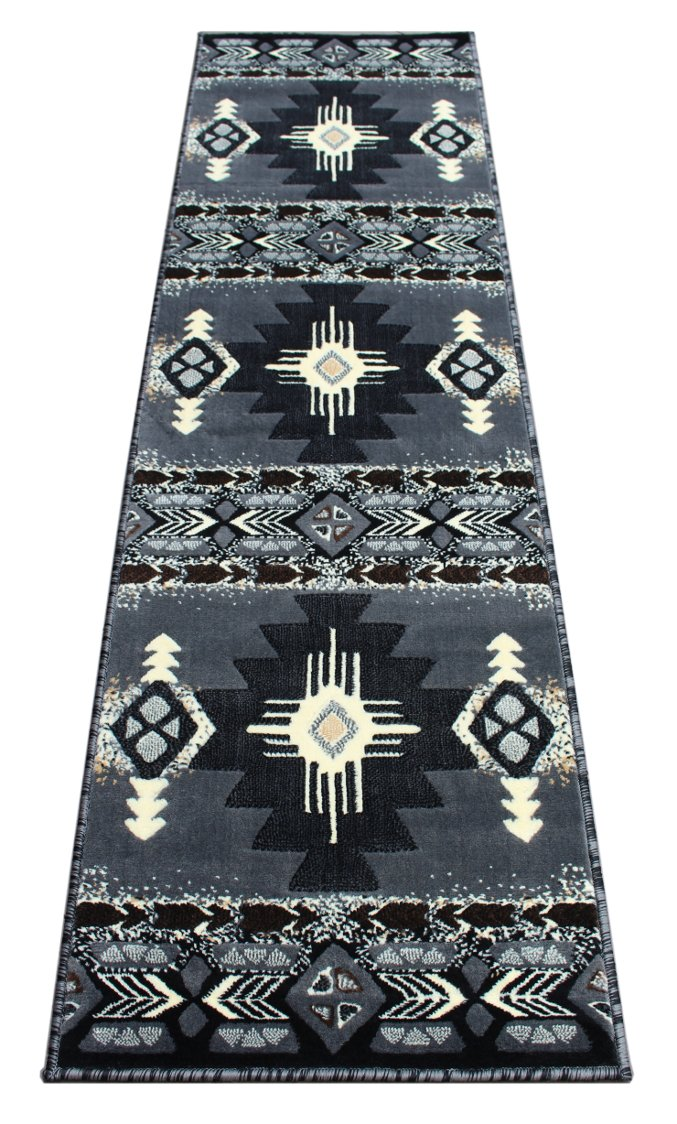 South West Area Rug Design Concord C318 Grey (2 Feet 4 Inch X 10 Feet 11 Inch) Runner Persian Weavers