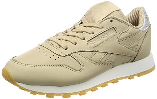 Reebok Classic Leather Met Diamond, Zapatillas para Mujer, Blanco (White/Gum), 38 EU