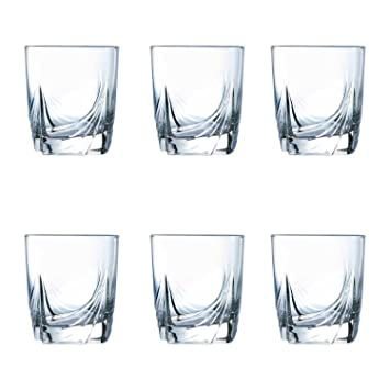 Luminarc Ascot Old Fashion Tumbler Set, 300ml, Set of 6, Transparent Glassware & Drinkware at amazon