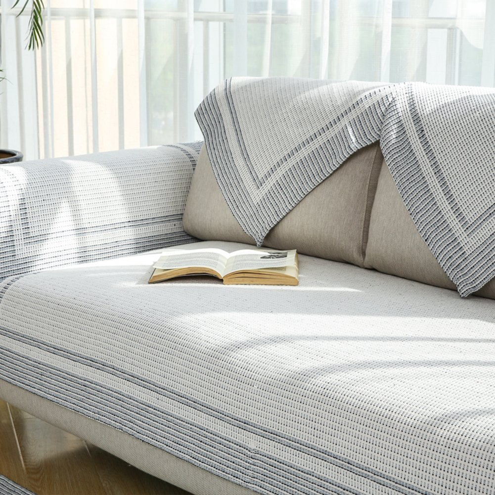 Sofa towel Cotton sofa cushions Comfortable and breathable Wear-resistant and durable-D 110x240cm(43x94inch)
