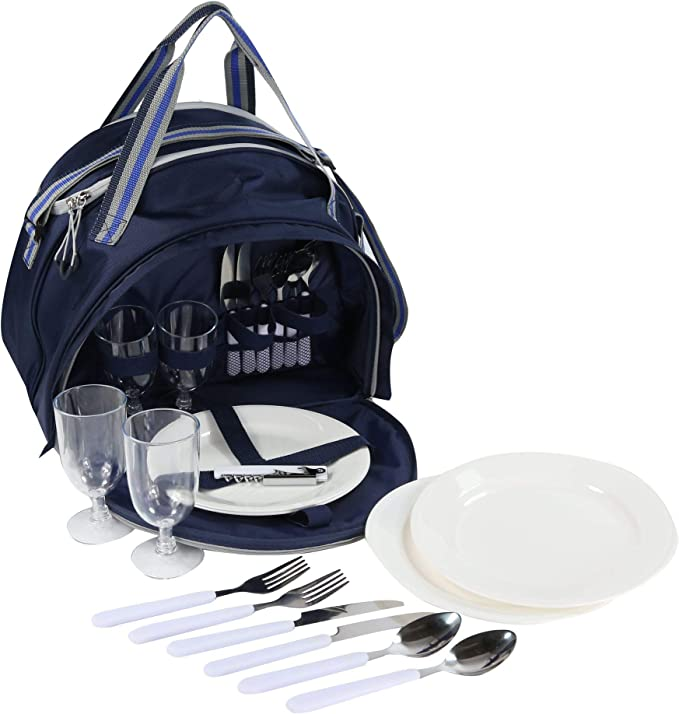 Regatta Epula 4 Picnic Pack with Cool Bag Compartment Juego, Unisex Adulto, Mezclilla Oscuro/Acero Claro, SGL: Amazon.es: Deportes y aire libre
